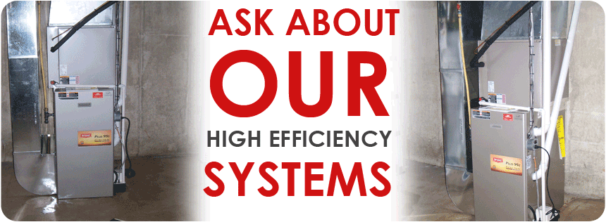 High efficiency heating and air conditioning - Bryant, Mitsubishi, Fujitsu, Carrier